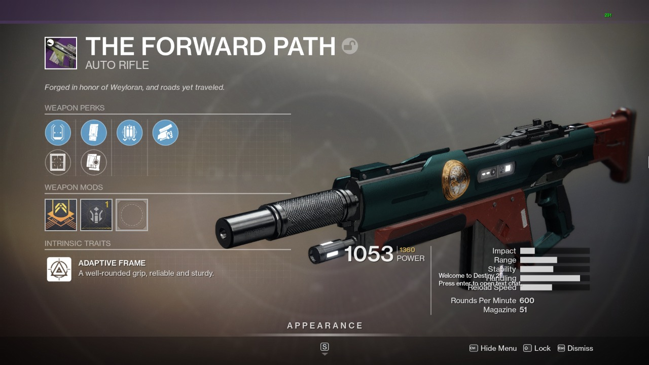 Destiny 2 The Forward Path God Roll