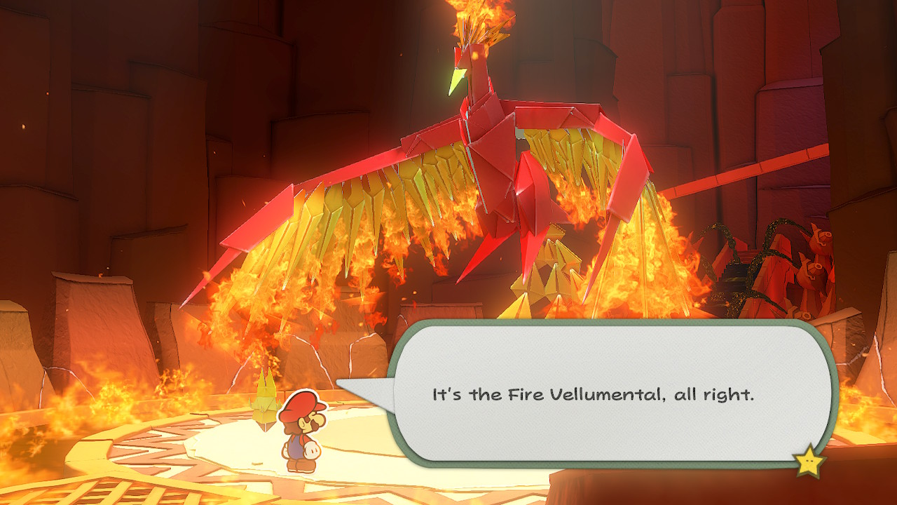 Paper Mario Origami King Fire Vellumental Boss