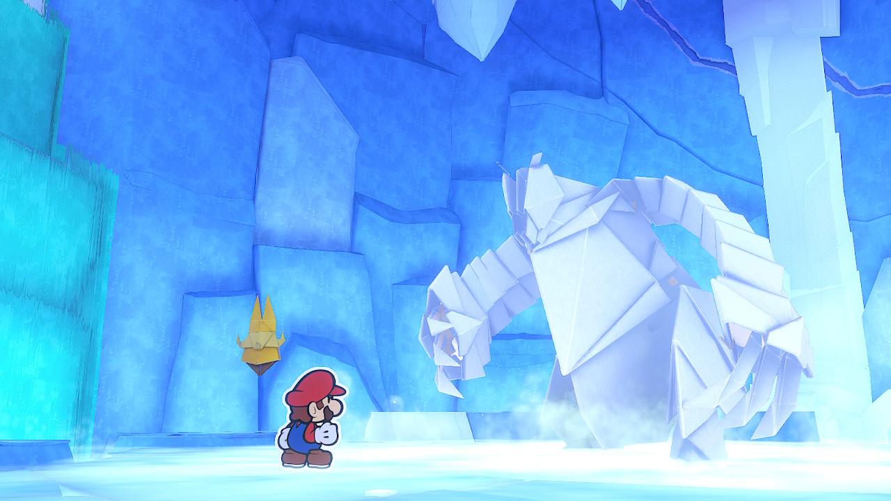 Paper Mario Origami King Ice Vellumental Boss