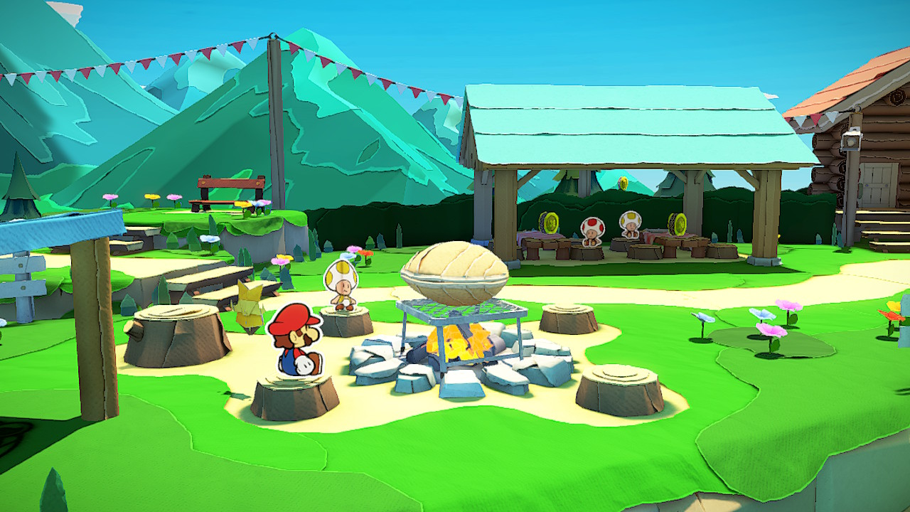 Paper Mario Origami King Whispering Woods Cabin