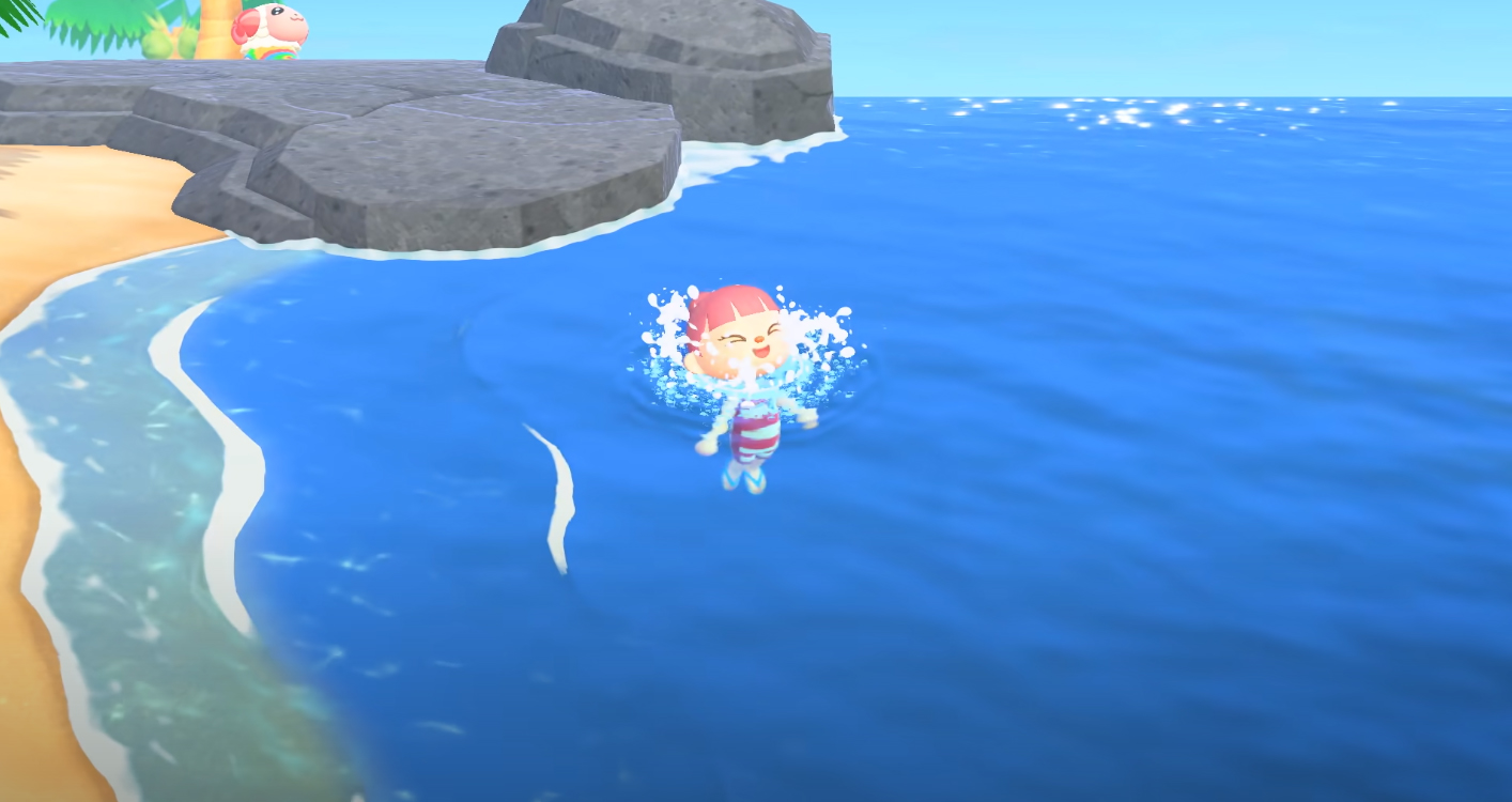 animal crossing diving