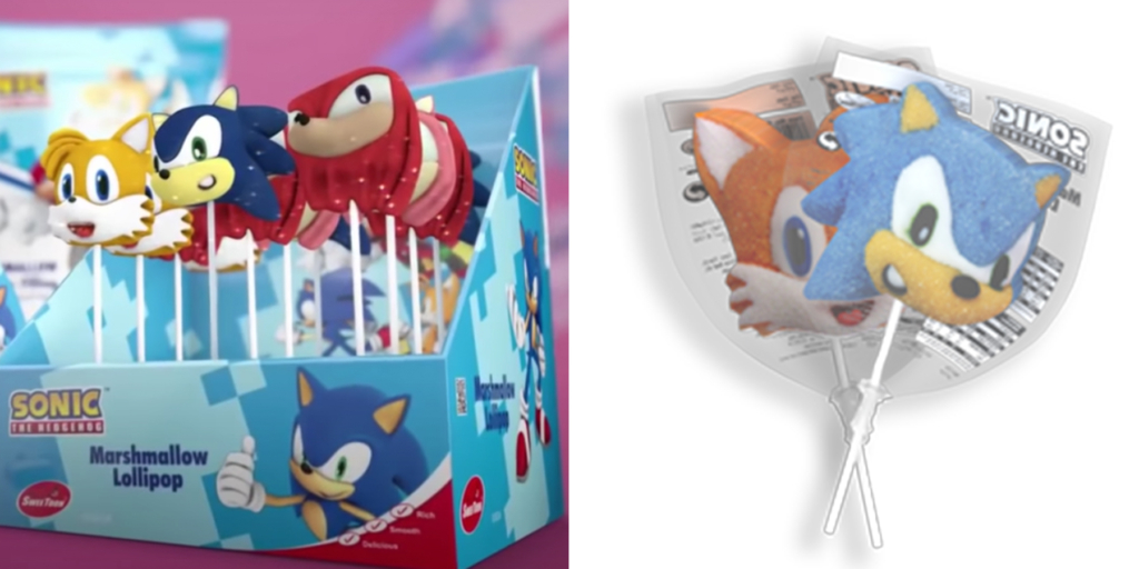 Sonic Marshmallow Lollipops