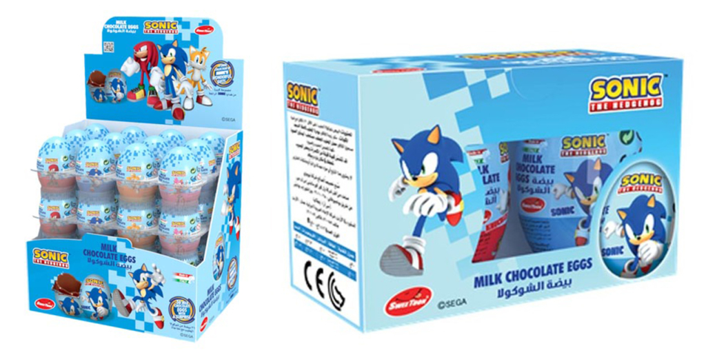 Sonic Milk Chocolate Eggs