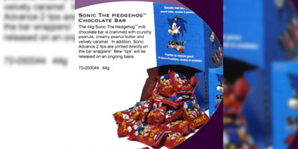 Sonic the Hedgehog Chocolate Bar - Canada