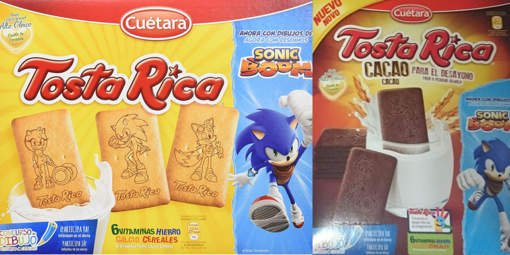 Sonic Boom Tosta Rica Biscuits