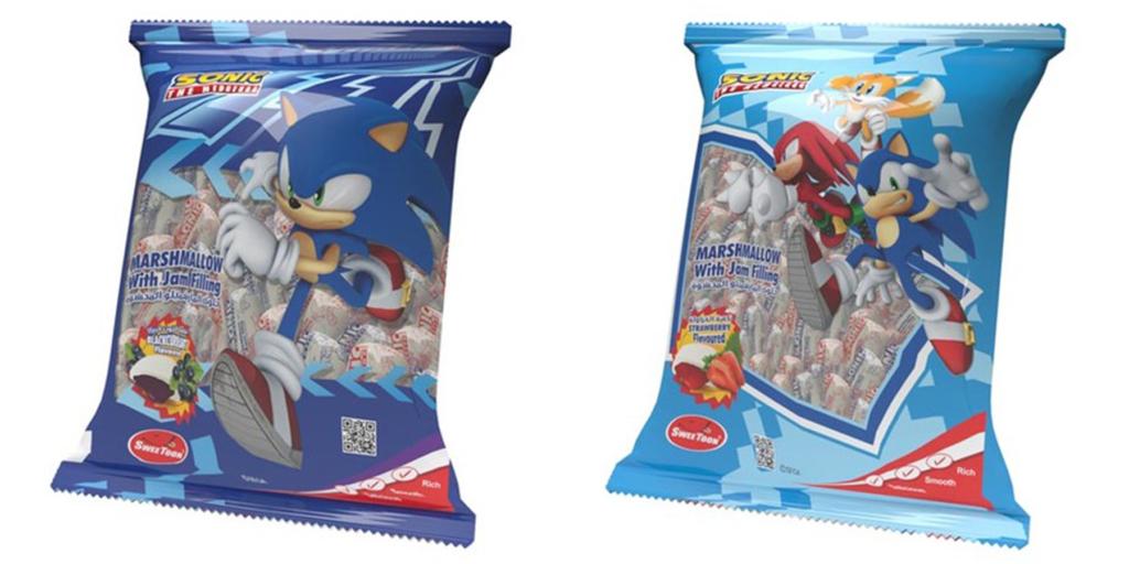 Sonic Jam-Filled Marshmallows