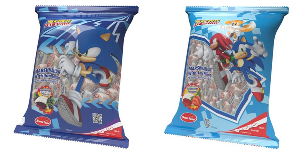 Sonic Jam-Filled Marshmallows