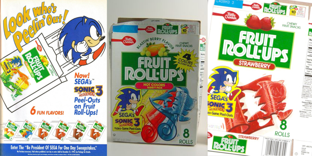 Sonic Fruit Roll Ups