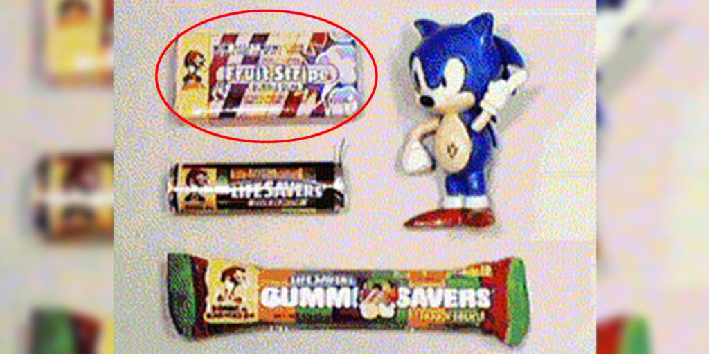 Sonic Fruit Stripe Gum