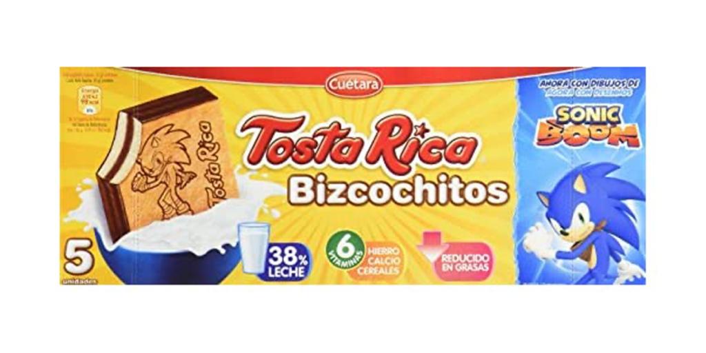 Sonic Boom Tosta Rica Bizcochitos