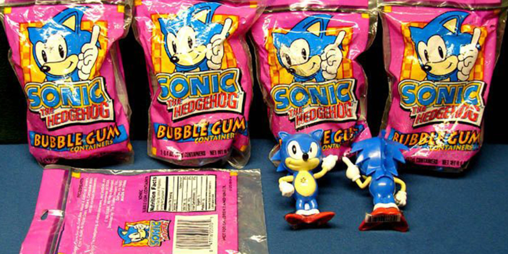 Sonic Container Bubble Gum