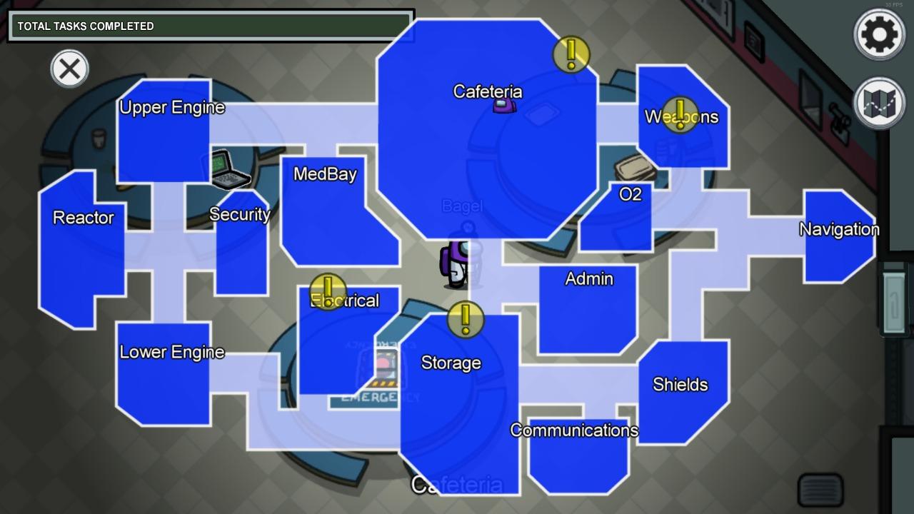 Among Us The Skeld Map