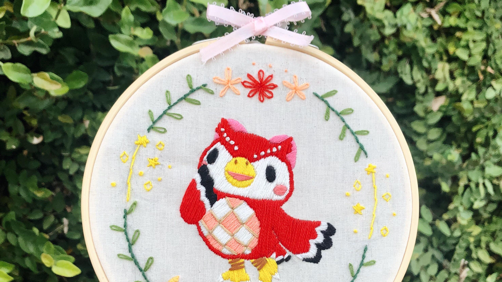 Photo of This Animal Crossing: New Horizons Player Designs Cute Villager Embroidery