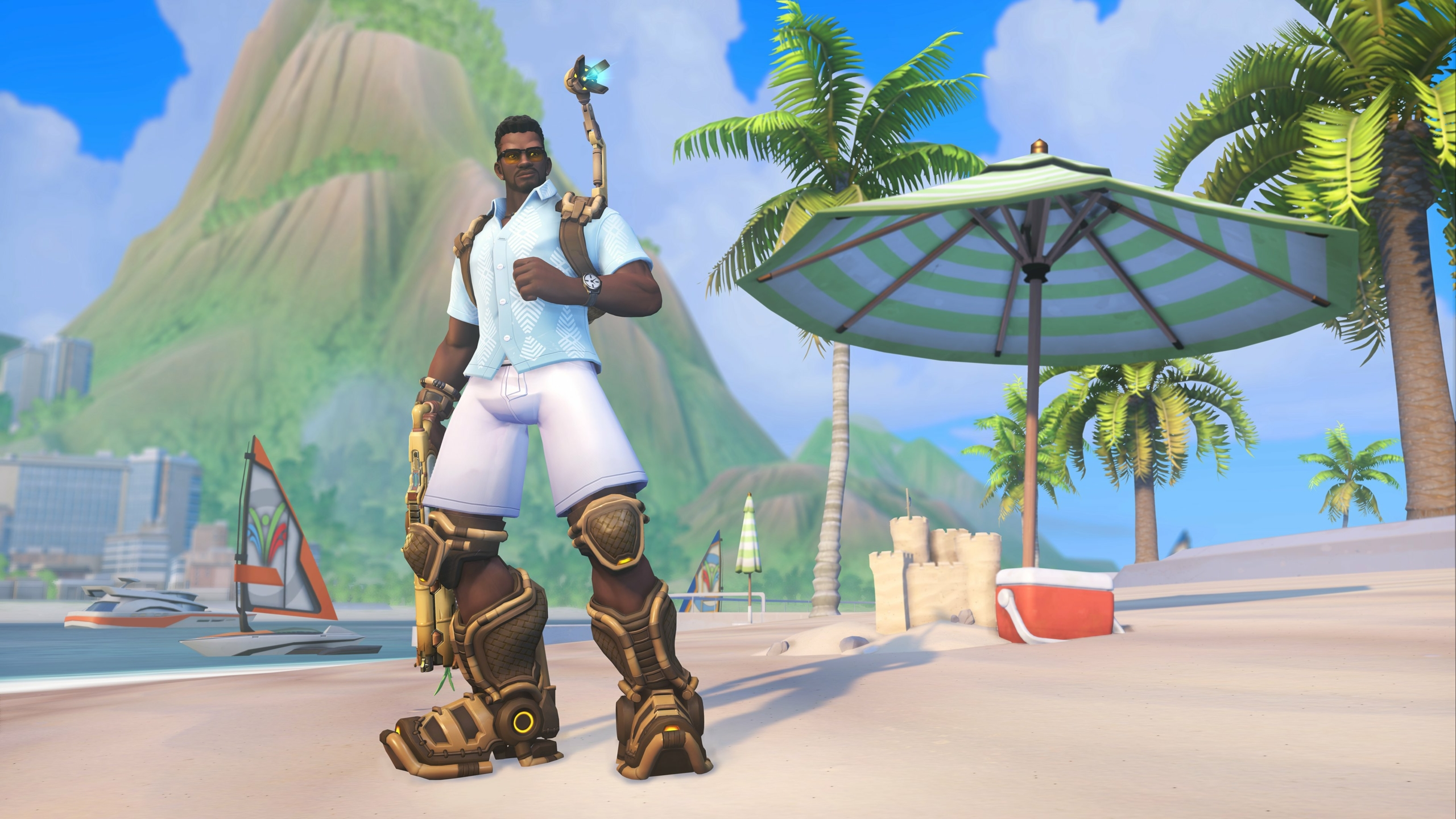 Photo of Baptiste's 'Tropical' Summer Games Skin in Overwatch: A Review