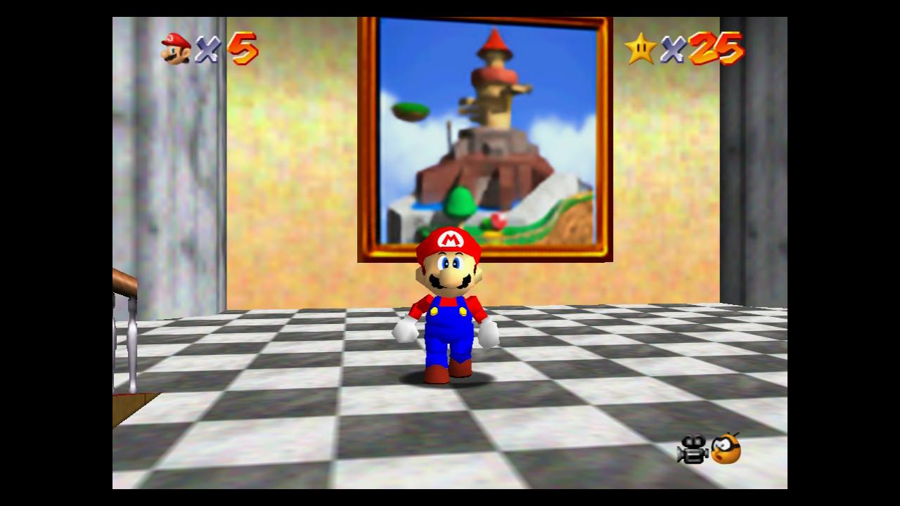 Super Mario 64 Fall Onto a Caged Island