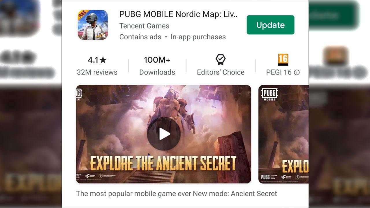 Erangel 2.0 update Google Play