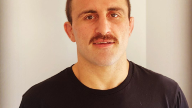 Photo of UFC Featherweight Champion Alex Volkanovski's mustache, a review