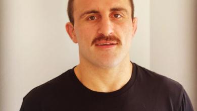 Photo of UFC Featherweight Champion Alex Volkanovski's mustache, a review
