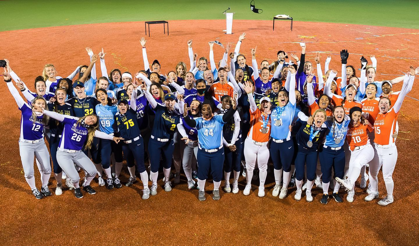 athletes unlimited softball all teams
