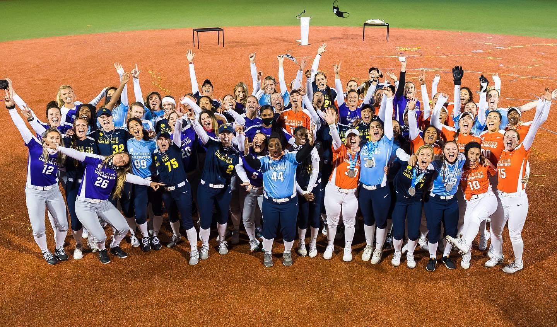 athletes unlimited softball all teams