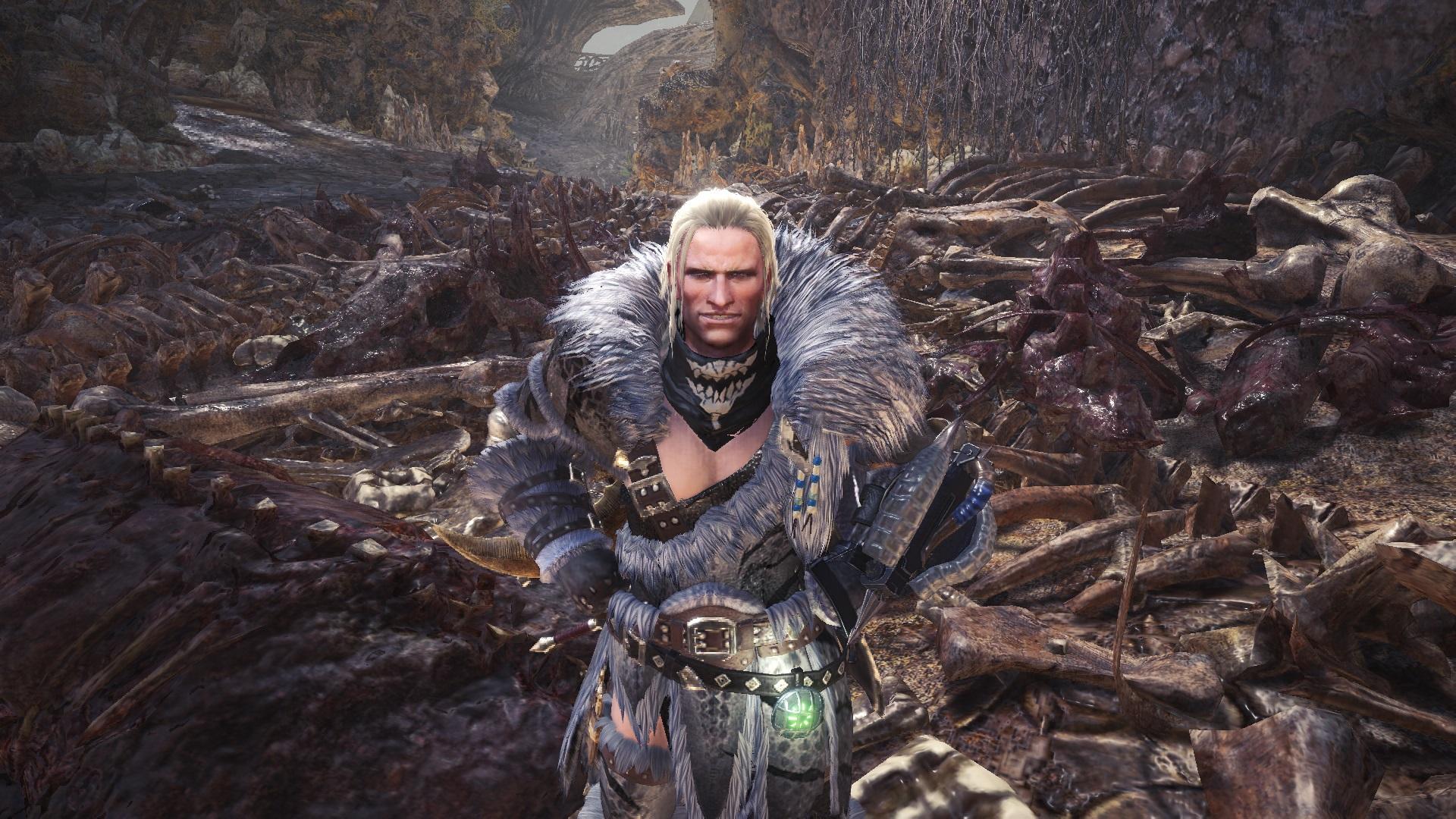 skull scarf layered armor