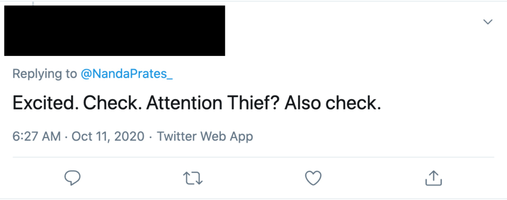 twitter harassment attention thief
