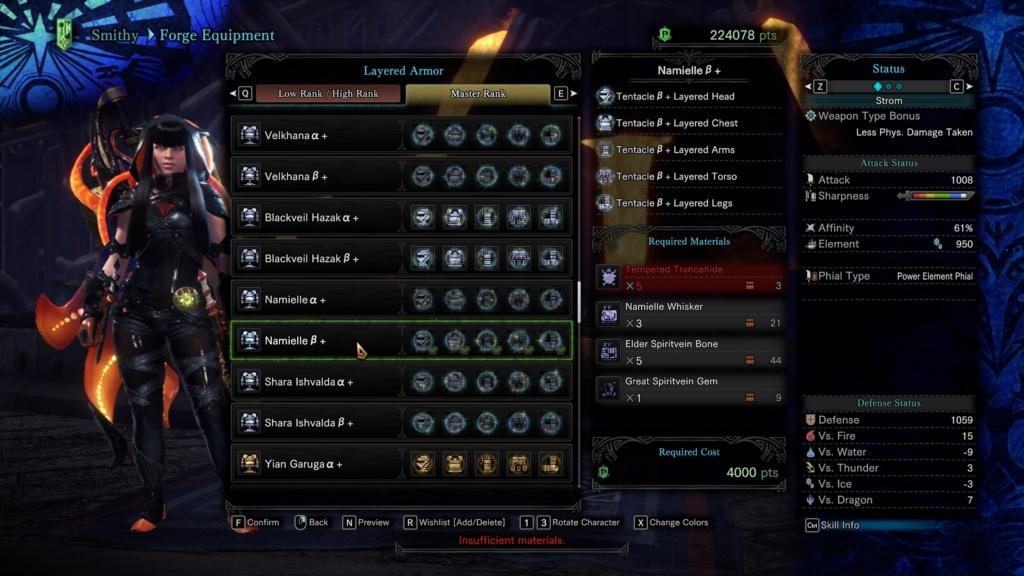 unlock master rank layered armor