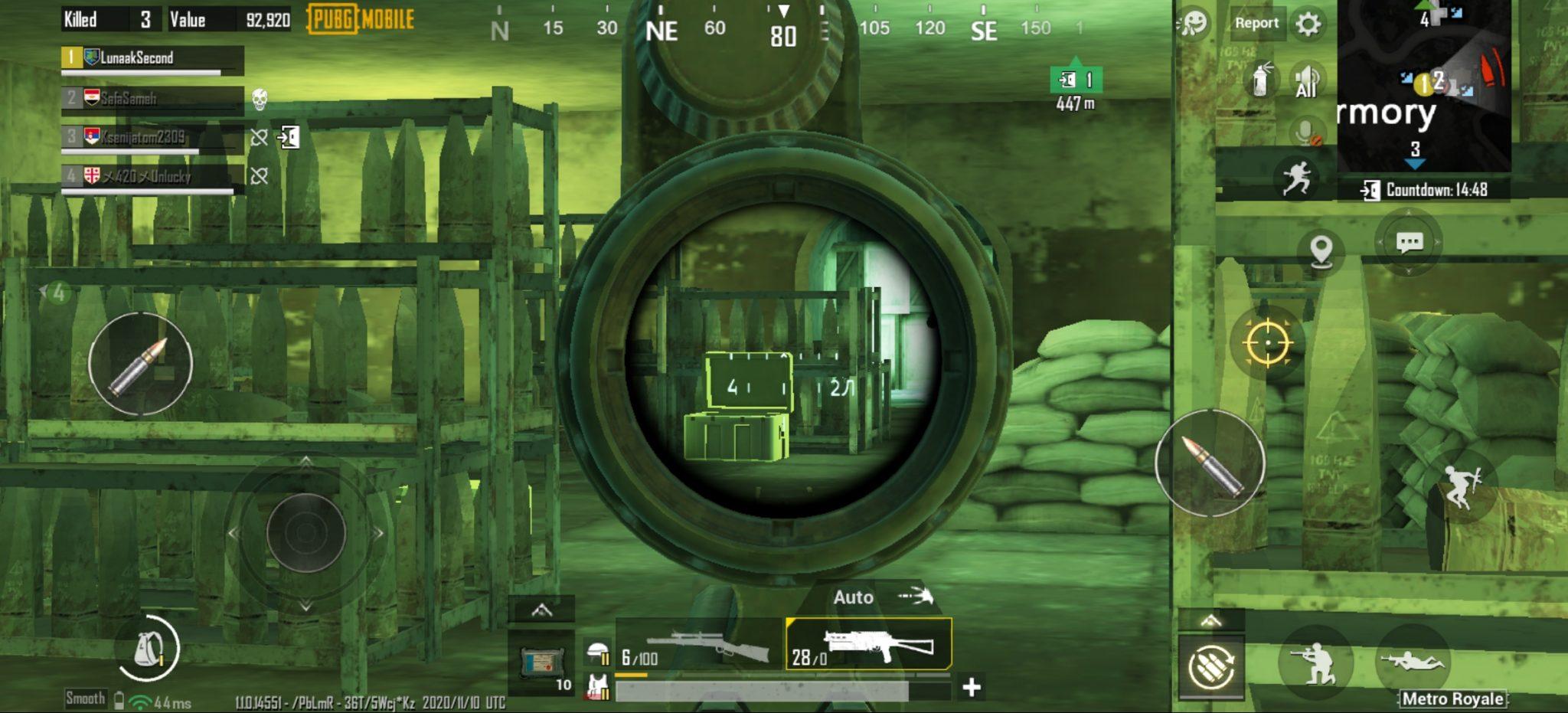 Contoh gameplay mode PUBG Mobile Metro Royale.