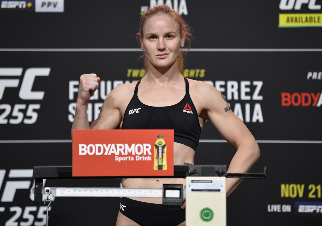 valentina schevchenko weigh in