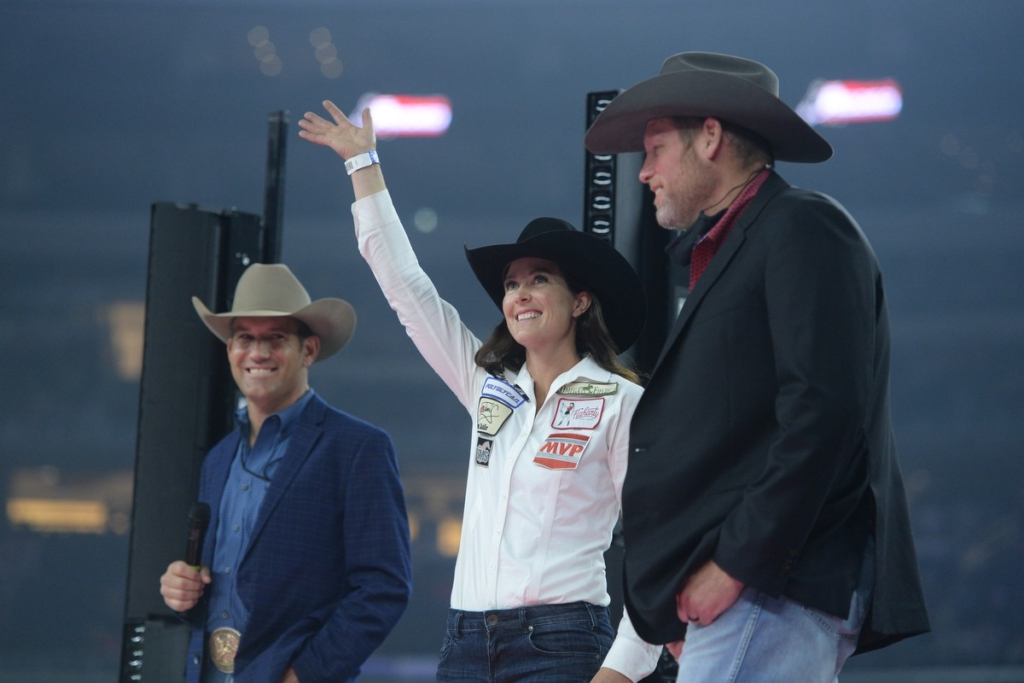 rodeo wanita Hallie Hanssen Champ