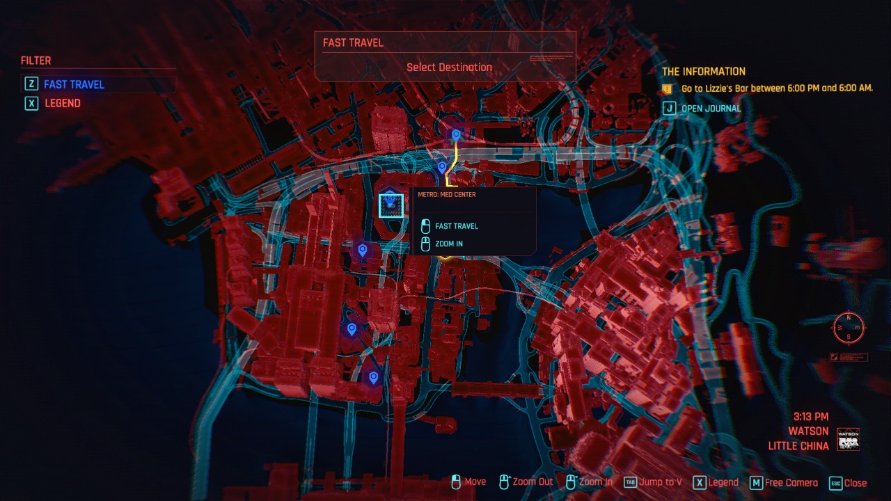 Cyberpunk 2077 Fast Travel