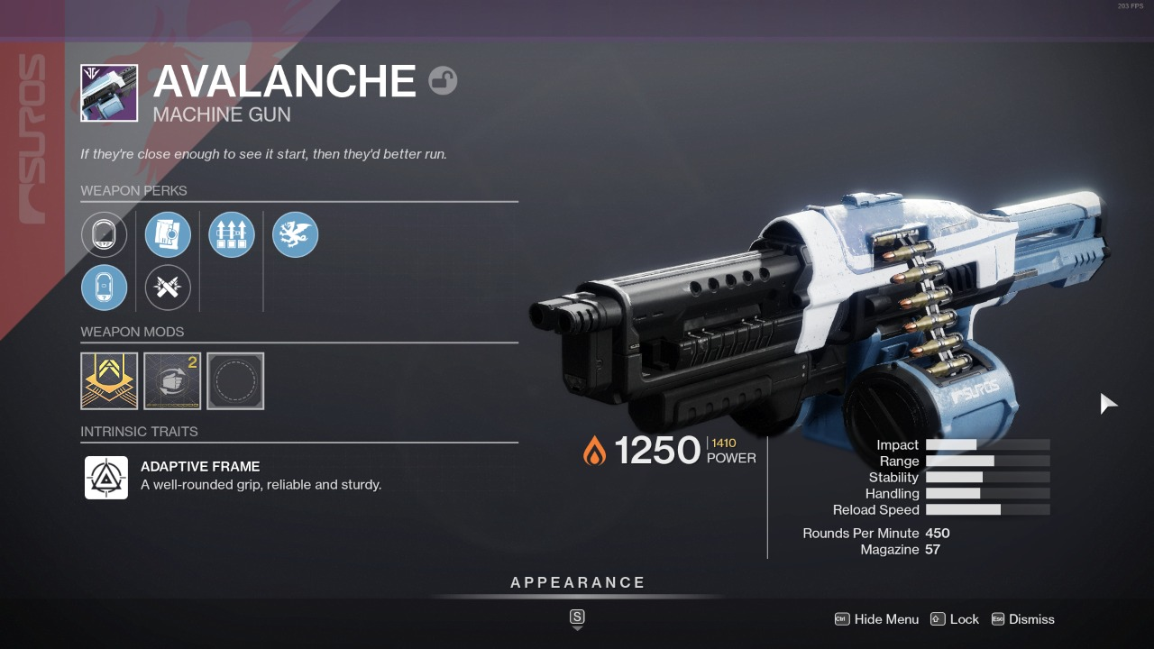 Destiny 2 Avalanche God Roll