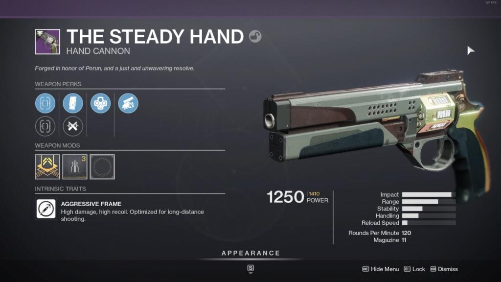 Destiny 2 The Steady Hand God Rolls