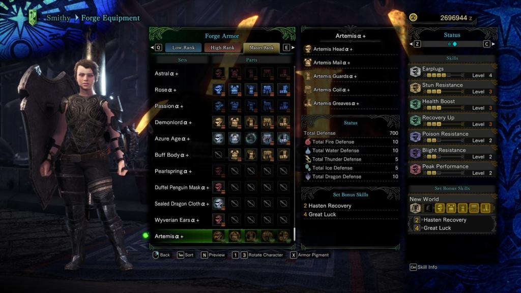 MHW Artemis Armor