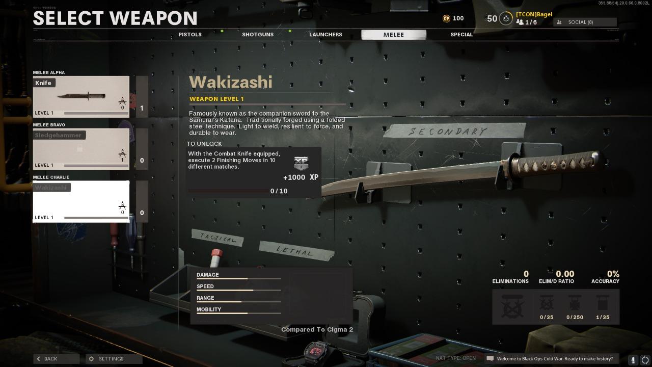 Black Ops Cold War Wakizashi Katana