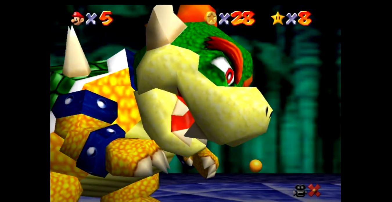 Super Mario 64 Bowser boss