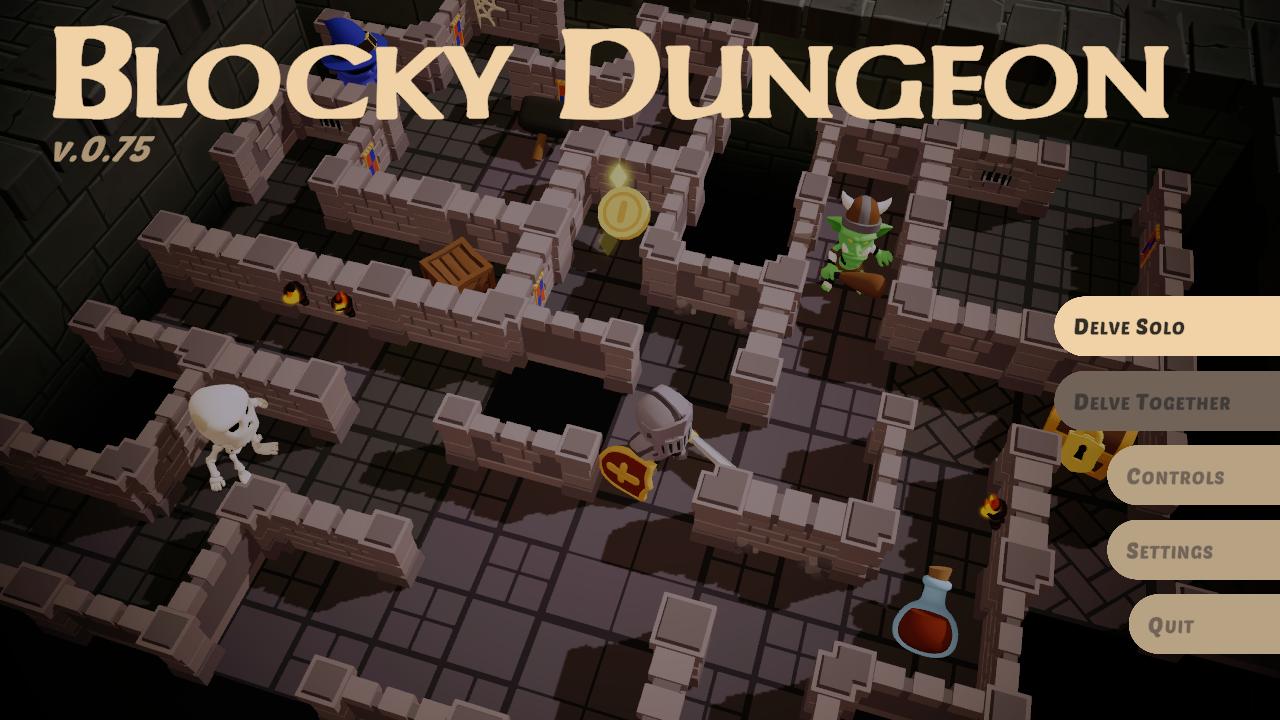 blocky dungeon game