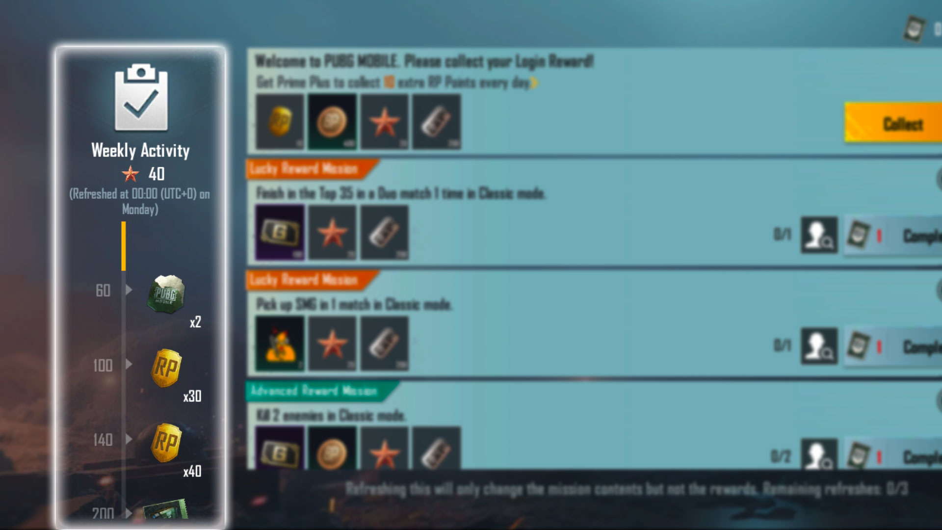 PUBG Mobile Season 17 weekly activity changes