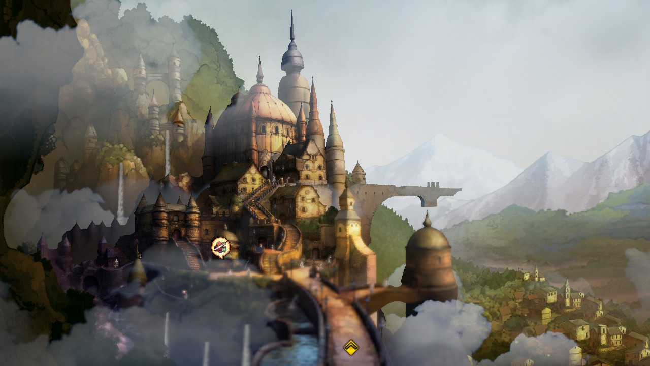 Bravely Default 2 City Zoomed Out Shot Menghadap Lembah