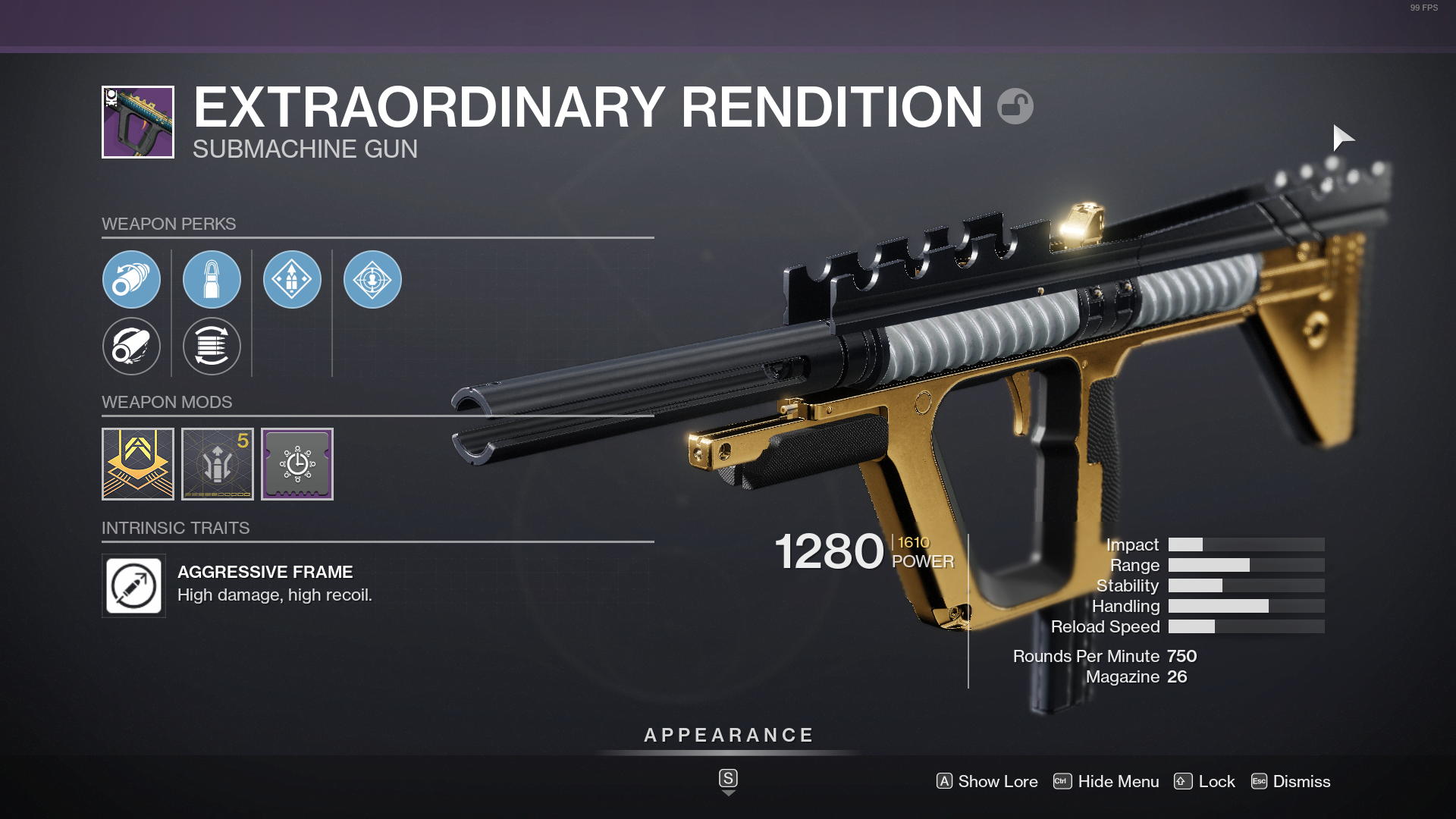 Destiny 2 Extraordinary Rendition God Roll