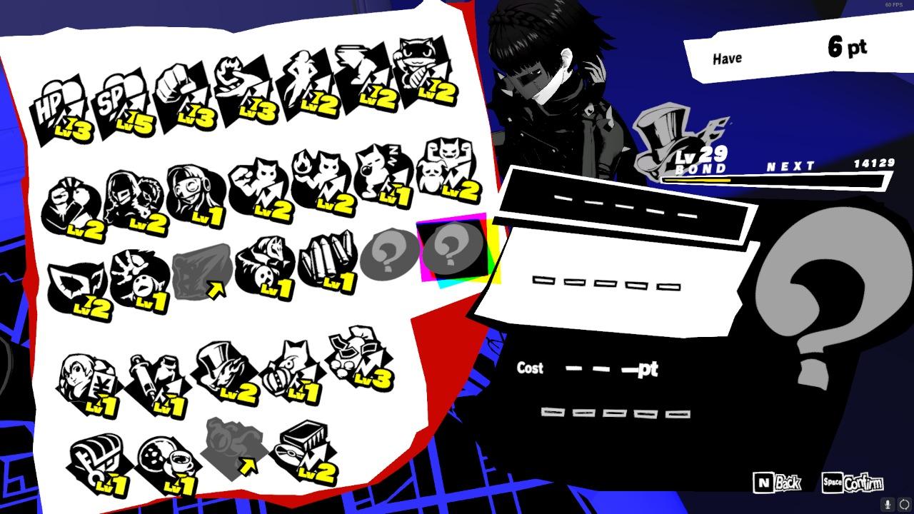 Persona 5 Strikers Bond Level