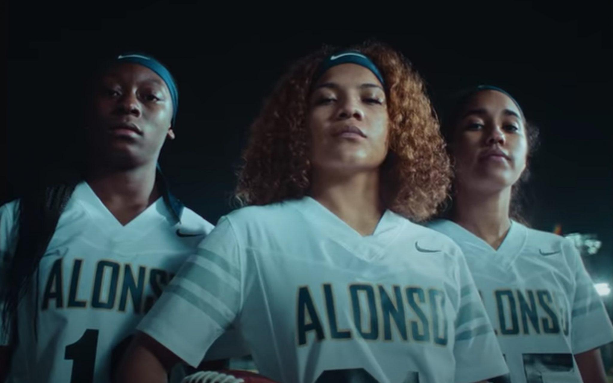 girls flag football nike