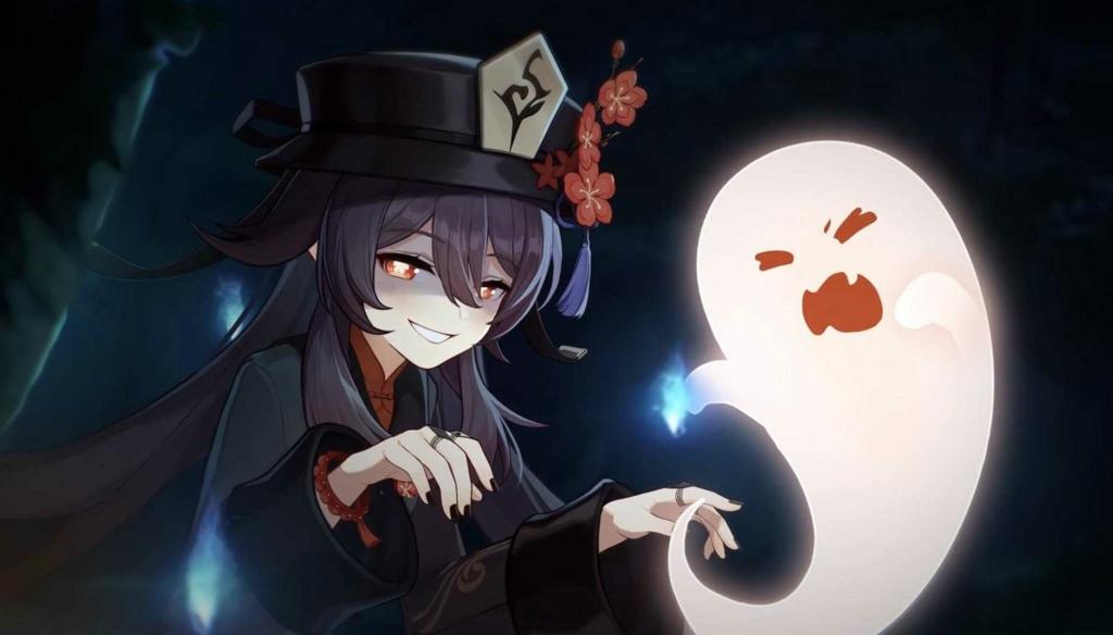 Genshin Impact Hu Tao dengan Ghost