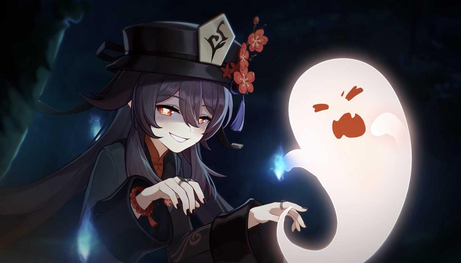 Genshin Impact Hu Tao with Ghost