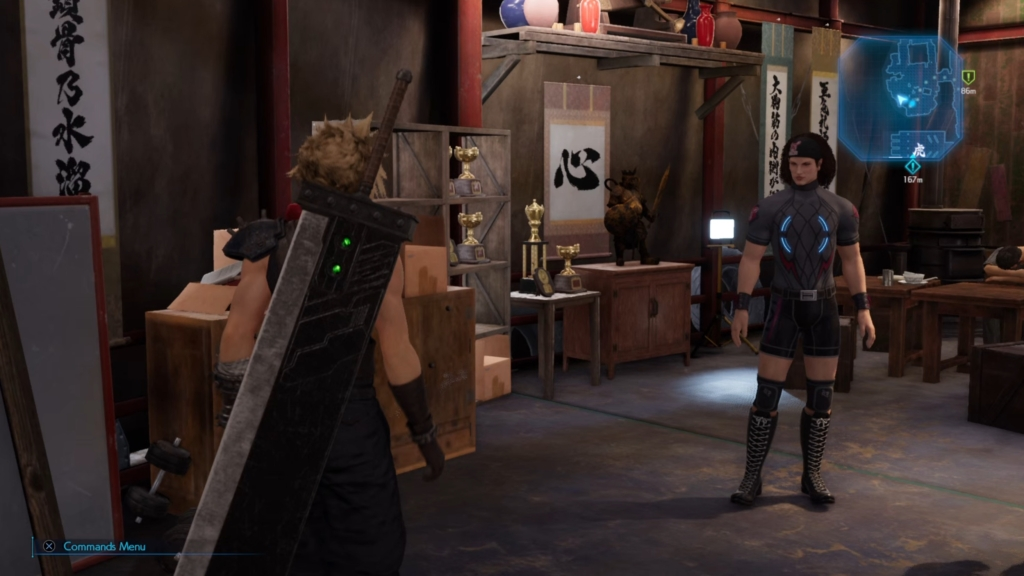 ff7 gym looks black outfit