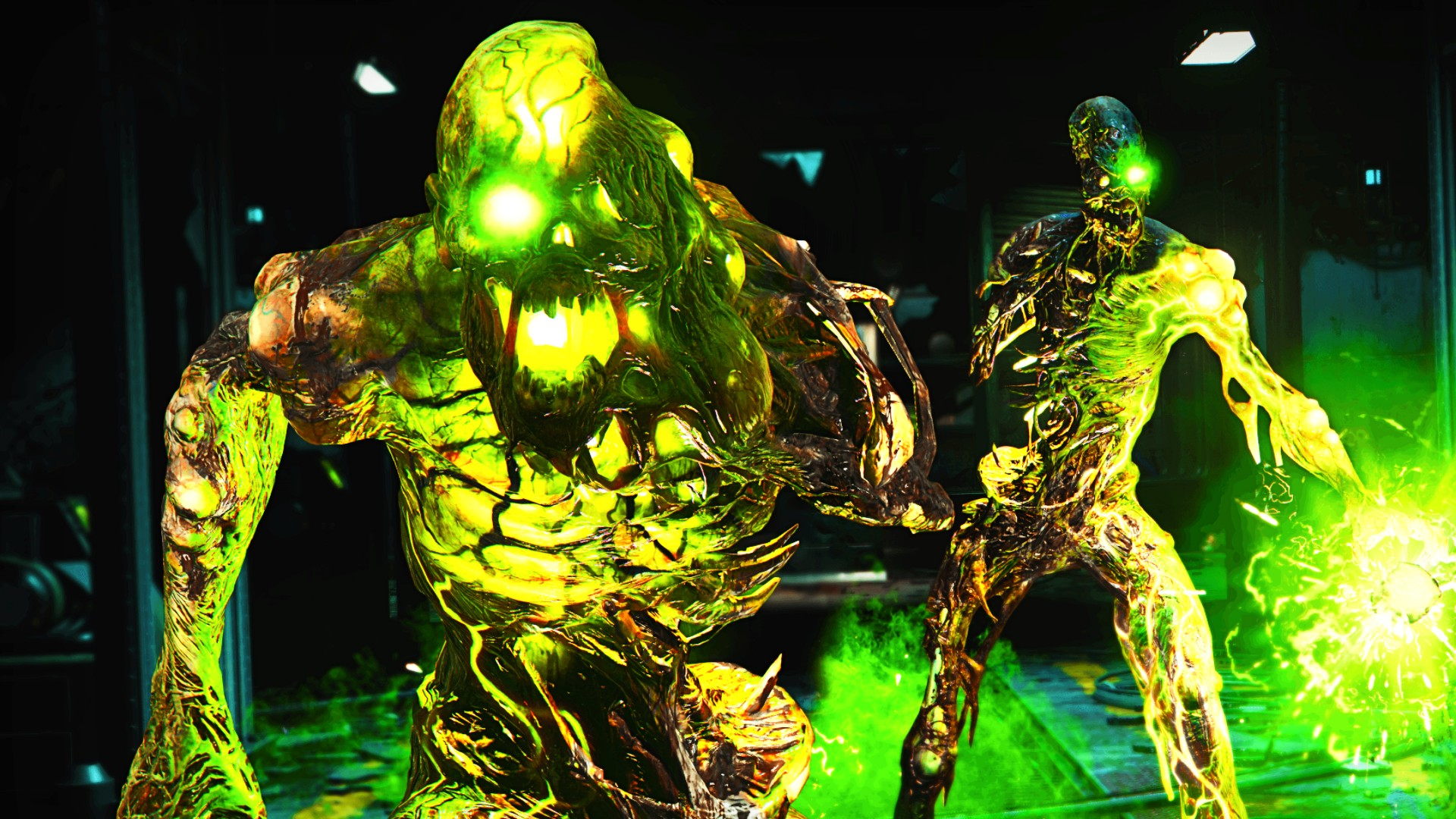 Glowing zombies from Call of Duty Outbreak