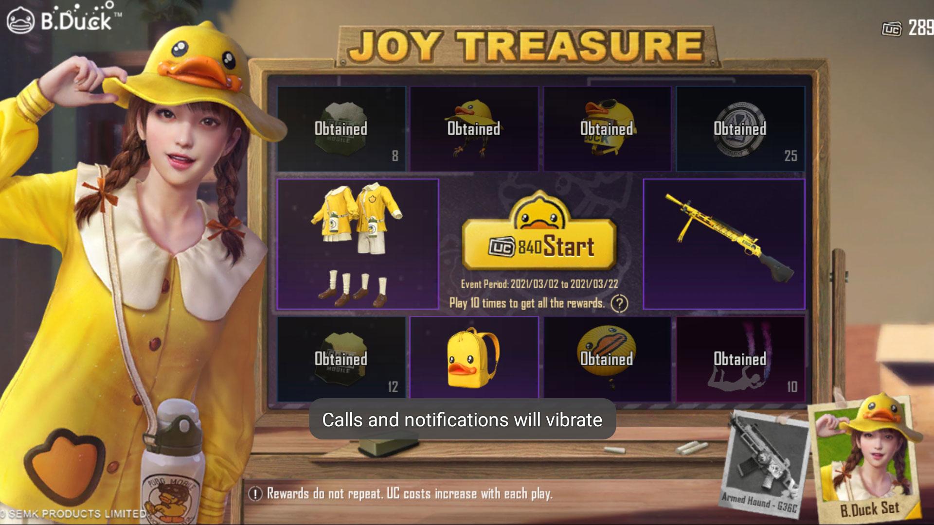 PUBG Mobile B-Duck Joy Treasure