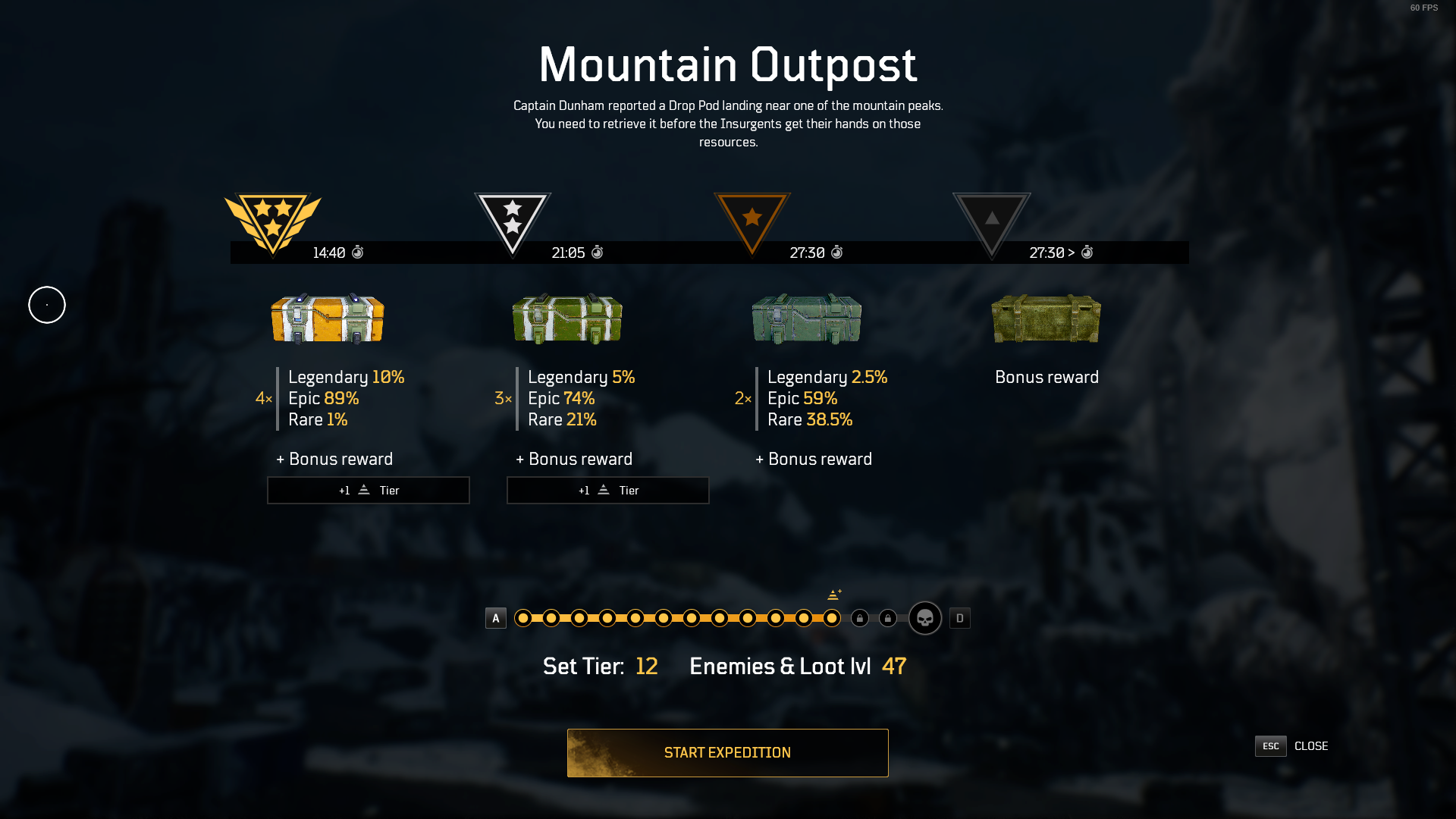 Outriders Challenge Tier