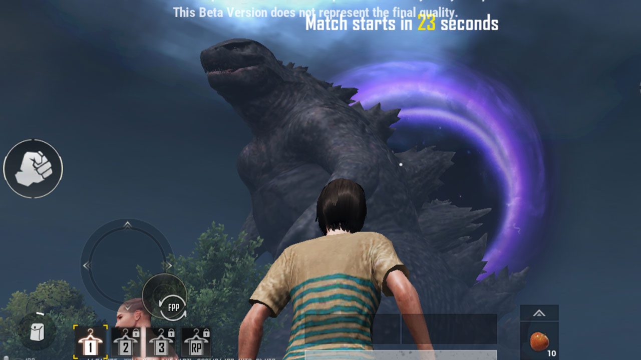 PUBG Mobile Titan Strikes mode Godzilla