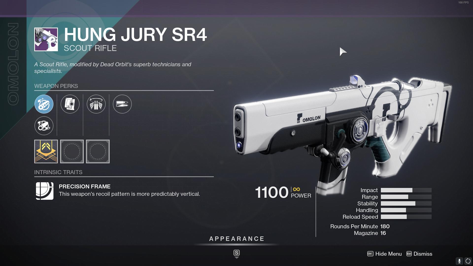 Destiny 2 Hung Jury God Roll